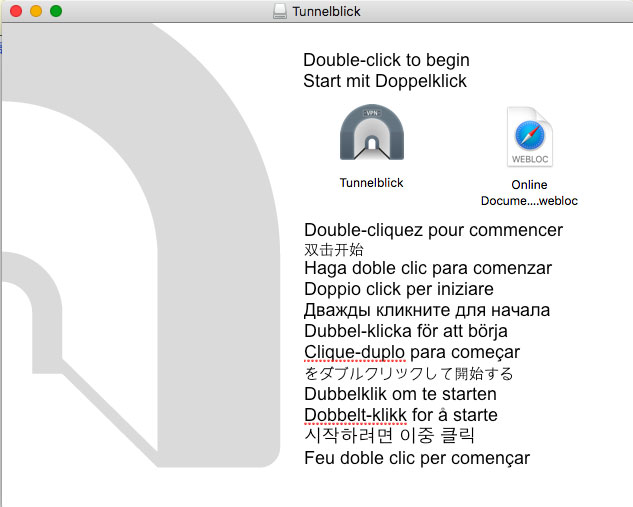 Mac VPN Install - Doubleclick installer