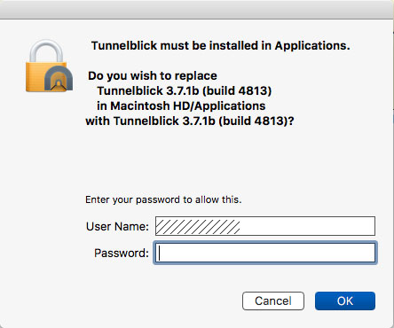 Mac VPN Install - Install password