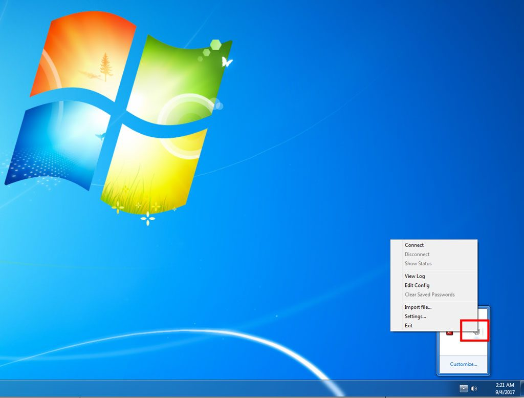 Windows VPN Install – Right Click Balloon