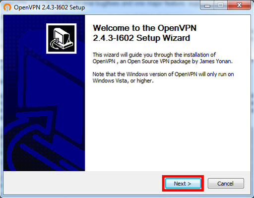 Windows VPN Install – Software Install Wizard Button